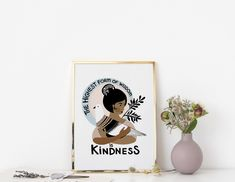 BE KIND Modern Judaica Wall Art Kindness Quote Art | Etsy Quote Art, Art Quotes, Hanukkah Gifts, Kindness Quotes, Jewish Art, Poster Making, Home Wall Art, Embroidery Art, Art Decor