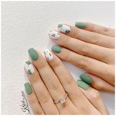 Yellow Nails Design, Green Nail Designs, Short Nail Designs, Colorful Nail Designs, Nail Designs Spring, Acrylic Nail Designs, Unique Nail Designs, Green Nail Art, Green Nails