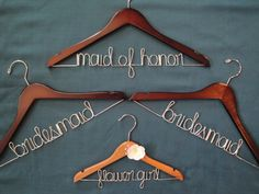 Personalized bridal hangers. Cute!