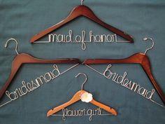 Personalized bridal hanger, modern bride, bridal party. $23.00, via Etsy.