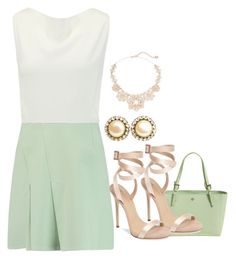 """""""Mints"""" by lulalalala ❤ liked on Polyvore featuring Roland Mouret, Tory Burch, Giuseppe Zanotti, Chanel and Kate Spade"""