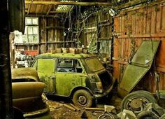In the shed..