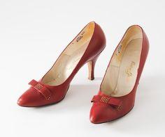 Roman Holiday 1950s Red High Heels by missfarfalla on Etsy, $95.00