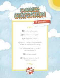 Summer is heating up at Craftsy with our Summer Staycation Challenge! Dare yourself to dive in check off our list of cool, fun (and free!) things to d...