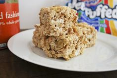 Oatmeal Rice Krispy Treats...going to modify this and use granola instead of cookies