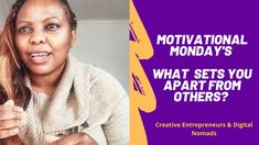 WHAT SETS YOU APART FROM OTHERS? | MOTIVATIONAL MONDAYS | CHIKO MATENDA Personal Qualities, Personal Identity, Comparing Yourself To Others, Free Courses, Digital Nomad, Marketing Tools, Mondays, Monday Motivation, Food For Thought