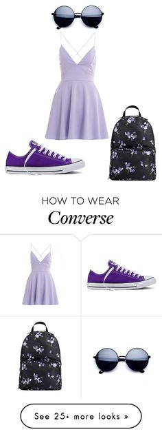 """""""Purple Day"""" by qveen-jay-boo on Polyvore featuring RED Valentino, AX Paris and Converse"""