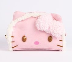 Hello Kitty Pouch: Woollen Fleece