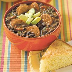 Black Bean Soup with Sausage #recipe