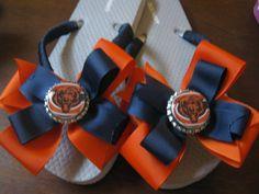 Chicago Bears Inspired Flip Flops