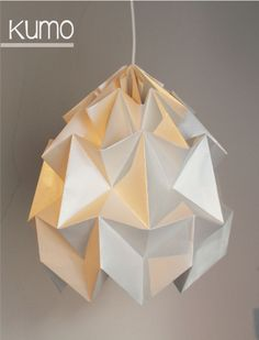 origami lamp / paper design www.facebook.com/muster.d