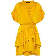 Marissa Webb - Lydia Dress (£210) ❤ liked on Polyvore featuring dresses, vestidos, flouncy dress, tiered mini dress, tiered ruffle dress, ruffled dresses and mini dress