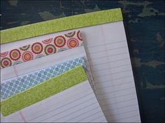 decorated paper pads