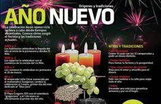 La recepción del Año Nuevo tiene celebraciones y tradiciones ancestrales en México y el mundo. Notimex nos da a conocer algunas de ellas en esta infografía.