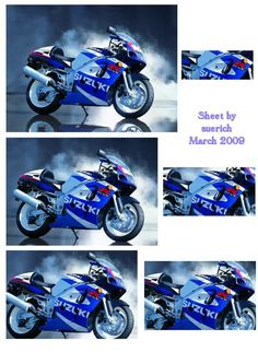 Sue Richardson uploaded this image to sheets/For Men'. See the album on Photobucket. Motorbike Photos, 3d Sheets, 3d Cards, Decoupage Paper, Card Maker, Print Pictures, Motorbikes, 3 D, Prints