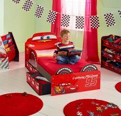 CAMA CARS DISNEY DE MADERA CON CAJONES. 509CCC01EM. NO INCLUYE COLCHÓN, IndalChess.com Tienda de juguetes online y juegos de jardin
