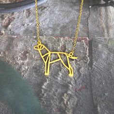 Akita Necklace, Origami Dog memorial Jewelry Tiny Pet gifts for dog lover Dog Jewelry, Hand Jewelry, Animal Jewelry, Jewelry Gifts, Unique Jewelry, Jewellery, Unique Necklaces, Pet Loss Gifts, Pet Gifts