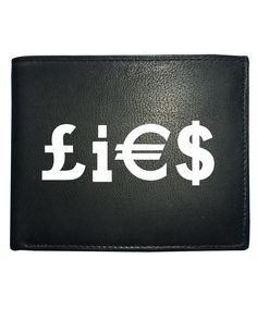 awesome MONEY LIES- Filthy Lucre that we all want- Men's Leather Wallet from Fat Cuckoo …