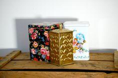 Set of Three Vintage Tea Tins Anthropologie Inspired. $36.00, via Etsy.