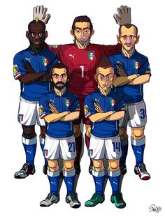 [2014 World cup Edition] D team : Italy by sakiroo.deviantart.com on @deviantART