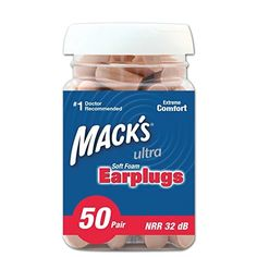 Mack's Ear Care Ultra Soft Foam Earplugs, 50 Pair  BUY NOW     $8.99    These ear plugs are molded with super low-pressure, skinned and tapered foam to provide unmatched comfort and improved hygiene. ..  http://www.beautyandluxuryforu.top/2017/03/06/macks-ear-care-ultra-soft-foam-earplugs-50-pair/