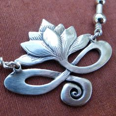Lotus necklace sterling silver