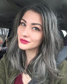 Gray Wigs Lace Frontal Wigs neutral henna on gray hair – roywigs Grey Hair Young, Dark Grey Hair, Long Gray Hair, Grey Wig, Silver Grey Hair, Silver Wigs, Ash Grey, Short Hair, Grey Hair Inspiration