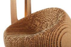 giancarlo zema recycles cardboard to make canyon collection - designboom   architecture & design magazine