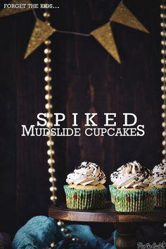 Spiked Mudslide Cupcakes Recipe >> PasstheSushi.com
