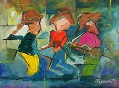 Jibaros 18x24 acrilico sobre lienzo por Alexander Rosario