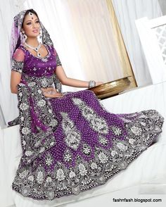 Beautiful Indian Bridal Vallima Lehanga-Choli| Dreamy Purple