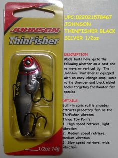 JOHNSON THINFISHER BLACK SILVER 1/2oz