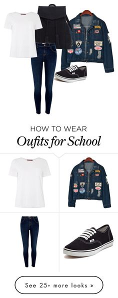 """school outfit"" by nauralunanev-1 on Polyvore featuring Chicnova Fashion, Violeta by Mango, River Island, Vans and MaxMara"