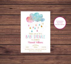 Items similar to Pink and Blue Baby Sprinkle Invitation, Gender Neutral Baby Sprinkle Invitations, Baby Boy Baby Girl Sprinkle 1570 Printable Invitation on Etsy Baby Sprinkle Invitations, Photo Invitations, Digital Invitations, Printable Invitations, Birthday Invitations, Baby Girl Sprinkle, Gender Neutral Baby, Color Card, Photo Cards