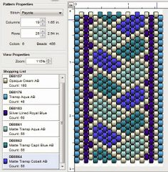 free peyote stitch beading pattern