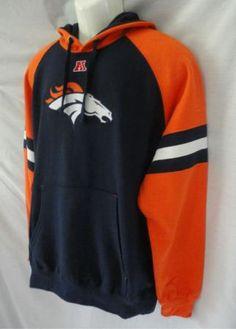 Broncos Hoodies for Women | Denver Broncos Orange Blue Hoodie Sweatshirt Mens XL | eBay
