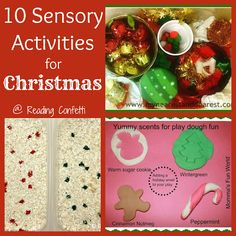 10 Sensory Activities for Christmas from Reading Confetti. Love the interactive way to tell the birth of Jesus! Holiday Crafts For Kids, Preschool Christmas, Christmas Activities, Kids Christmas, Christmas Crafts, Kids Crafts, Sensory Games, Sensory Activities Toddlers, Sensory Play