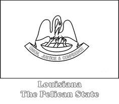 Louisiana Symbols Coloring Sheets 3