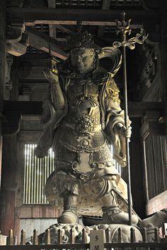 inside tōdai-ji temple in nara - japan, may 2015 Japanese Buddhism, Japanese Temple, Asian Sculptures, Korean Art, Buddhist Art, Japan Art, Statue, Japanese Culture, Oakley