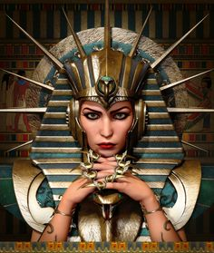 Thonis-Heracleion - Lost City of the Egyptians Ancient Egyptian Makeup, Egyptian Fashion, Ancient Egypt Art, Egyptian Beauty, Egyptian Costume, Egyptian Art, Egyptian Mythology, Egyptian Goddess, Goddess Art