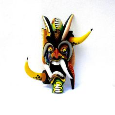 Boruca Mask Ceremonial Mask Devil Mask Wood by CostaRicanRiches
