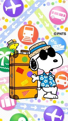 snoopy traveling