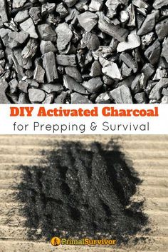 How to Make DIY Activated Charcoal for Prepping and Survival. From filtering water to making your own gas mask or treating a poisoning, activated charcoal has a lot of valuable uses in a survival situation. Making your own takes time but it is ultimately Survival Life Hacks, Survival Food, Homestead Survival, Wilderness Survival, Camping Survival, Outdoor Survival, Survival Prepping, Survival Skills, Emergency Preparedness