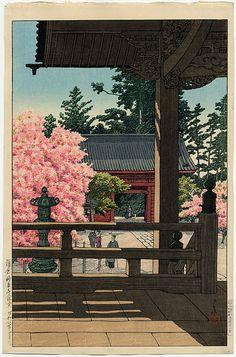 Kawase Hasui (1883-1957): Myohon Temple, Kamakura, 1931
