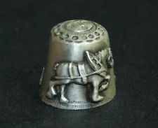 Collectible Pewter Heavy Cheveron Horse Old Country Williamsburg, VA Thimble