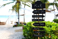 Tulum Wedding at Ana y Jose Beach Club, which way to the party?  Mexico wedding photographers Del Sol Photography @Ana y Jose Hotel & Spa