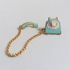 'Rotary Dial Telephone' Double Pin (2 Colors!)