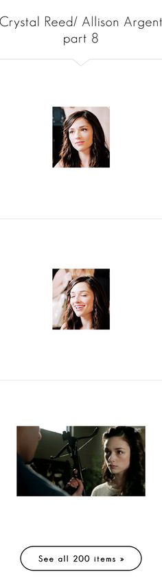"""""""Crystal Reed/ Allison Argent part 8"""" by lghockey ❤ liked on Polyvore featuring home, home decor, crystal reed, teen wolf, photos, celebrities, crystal home decor, crystal, people - crystal reed and people"""