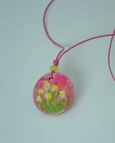Handmade modelling clay necklace with wax by BenekliZencefil