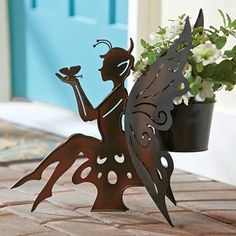 Fairy Planter in Summer 2013 from Fresh Finds on shop.CatalogSpree.com, my personal digital mall.